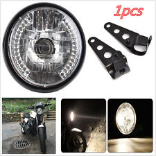 Motorcycle Bike 7'' LED Headlight Turn Signal Indicator Light With Mount Bracket