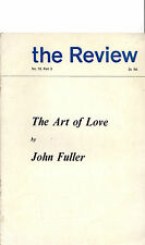 "POETRY PAMPHLET - ""THE ART OF LOVE"" BY JOHN FULLER - Pub. by THE REVIEW (1968)"