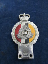 RARE military J R Gaunt Original Vintage Car badge / mascot THE SUFFOLK REGIMENT