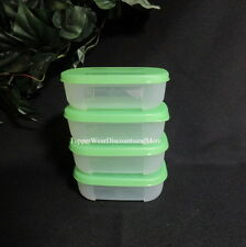 Tupperware NEW 4 Freezer FREEZE mates MINI frozen storage containers Green Seal