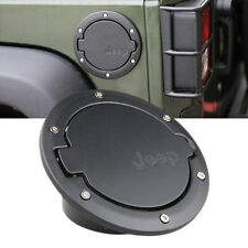Fuel Filler Door Cover Gas Tanks Cap 2/4 Door For 07-16 Jeep Wrangler JK Black