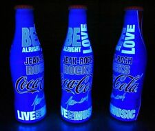 *FULL Aluminum JEAN-ROCH Rocks Coca Cola Bottle UV BLACK LIGHT Hidden Words GLOW