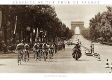 1975 Tour Finish on the Champs Presse E Sports Tour de France Print Poster 31x22
