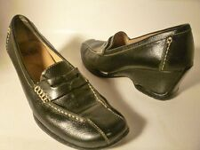 SOFFT Sz 9 M Black Leather Loafer Wedge Pump Ladies Womens Shoes