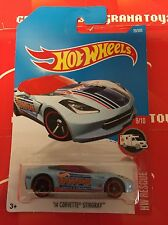 14 Corvette Stingray #20 Light Blue 2017 Hot Wheels Case A