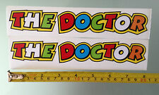 "Valentino Rossi ""THE DOCTOR"" Decals Stickers (X2) (20CM X 3CM)"