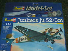 REVELL 1:144 JUNKERS Ju-52/3m MODEL KIT & PAINTS SET 04843