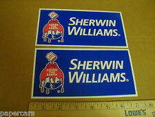 Sherwin Williams Paint New Nascar auto racing contingency decal sticker lot 7""