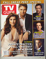 KATE WALSH TIM DALY TV Guide Magazine 8/27/07 WILLIAM PETERSEN HOUSE SURVIVOR