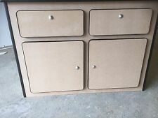 Camper Pod Unit Furniture Plain MDF Push Buttons & Edging VW T4 T5 Transporter