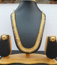 Indian Bollywood 22K Gold Plated Party Fashion Wedding Necklace Earrings Set A