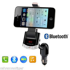Bluetooth FM Transmitter Car Kit Handsfree Charger MP3 Player Phone Holder Mount