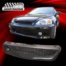 1999 2000 Brand New Black ABS T-R Style Front Hood Grill Grille For Honda Civic
