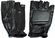 LARGE MENS SOLID LEATHER POLICE STYLE SWAT TACTICAL MOTORCYCLE GLOVES RK-1021