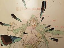 Jojo's Bizarre Adventure Anime Cel Animation Art JOTORO DIOS END SCENE