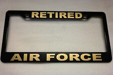 Military License Plate FRAME, RETIRED/AIR FORCE-- ABS-#841125G