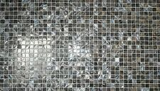 Mother of Pearl Mosaic Tile Sheet Dark Blue Grey 20x20 / SQM MOP20DBG