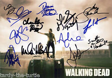 The Walking Dead Cast #1 Autograph Reprint 13 Autos Andrew Lincoln Norman Reedus