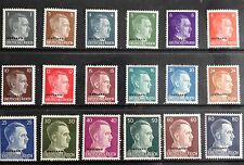 Germany o/p Ostland over 1941 Hitler stamps. Mint NH complete set.