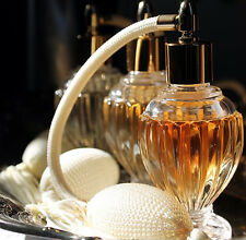 Vintage Style Refillable Empty Glass Perfume Bottle Ivory Bulb with Tassel Spray