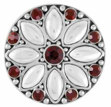 """Ginger Snaps Jewelry """"White Christmas Flower""""SN19-16 Buy 4 Get 1 $6.95 Snap Free"""