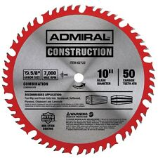 10 INCH 50 TEETH COMBINATION CIRCULAR SAW BLADE WITH C3 TUNGSTEN CARBIDE TIPS
