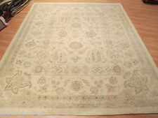 8x10 Museum Muted All-over-pattern Veggie Dye Hand-made-knotted Wool Rug 582800