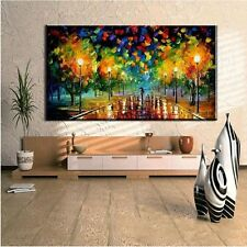 Huge Modern City Scenery Hand painted Oil on Canvas Painting Art(No Frame)