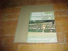 1977 Beckenham Lawn Tournament Tennis Program Robertson Cup Masters Cup Bowring