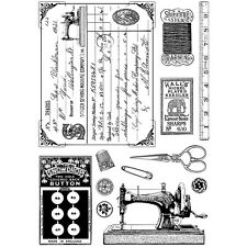 """""""Crafty Individuals Unmounted Rubber Stamp 4.75""""""""X7"""""""" Pkg-Sewing Notions"""""""