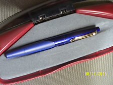Sheaffer Intrigue Blue on Blue Fountain Pen 14K rare stub NIB