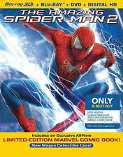 The Amazing Spider-Man 2, 3D Blu-ray/DVD 2014, Best Buy Steelbook - Brand New!