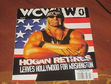 Hulk Hollywood Hogan Autographed Wrestling Cover Page