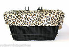 LEOPARD PRINT BIKE BASKET LINER /BAG Beach Cruiser Vintage Ladies RETRO BICYCLES