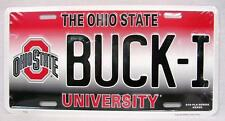 BUCK-I Ohio State Buckeyes University License Plate Sign Car Truck Auto Made USA
