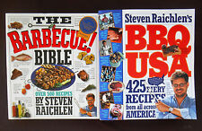 THE BARBECUE ! BIBLE and BBQ USA by STEVEN RAICHLEN over 925 Recipes in 2 Books