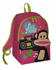 Paul Frank-Julius Monkey Ghetto Blaster Mochila Escolar-Rosa