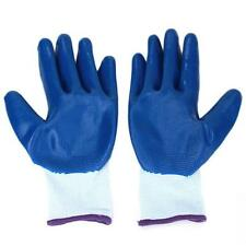 Nylon Blue Resistant Safety Protective Proof Work Garden Palm Coating Gloves LG