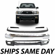 New Complete Chrome Front Bumper Combo Filler Kit For 2001-2004 Toyota Tacoma