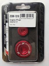 KAWASAKI   KXF250  KXF 250  KX250F  2004-2010  ZETA ENGINE PLUGS RED