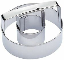 Kitchen Craft 7.5cm Stainless Steel Ring Biscuit And Doughnut Cutter With Handle
