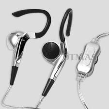 Mini Clip Sport Stereo Earphone Headphone Headset MP3 +Volume Control Silver