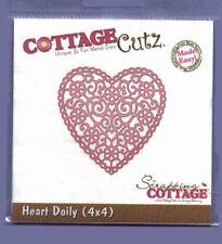 Cottage / Cutz / dimensionale / morire / cc4x4-155 / TAGLIO / Cuore / Doily / filigrana