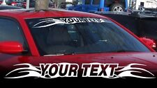 Custom Text Your WINDSHIELD BANNER Window decal sticker for BMW Dodge Jeep etc