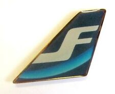 10328 FINNAIR FIN  FINALND AIRLINES AIRWAYS AVIATION PLANE TAIL PIN BADGE LAPEL