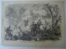 Rebel Soldiers Bayoneting Wounded On Bull Run Battlefield Orig. 1861 Engraving