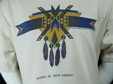 Vintage 90s Santa Fe New Mexico Feather Shield Cotton T Shirt Purveyors 3XL USA