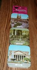 Vintage Mexico Souvenir Coasters set of 6  tourist sites NEW in Package