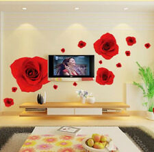 Red rose Home room Decor Removable Wall Sticker/Decal/Decoration