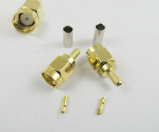 RP-SMA Male Plug Straight Crimp for RG174 RG179 RG316 RG188 Cable Connector